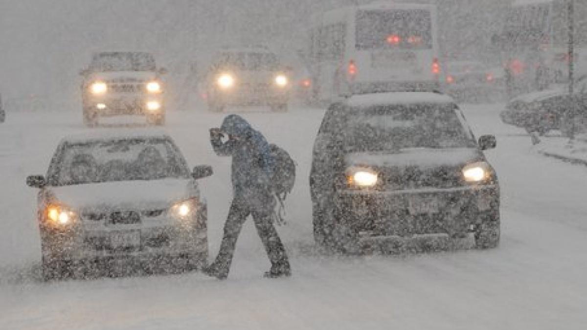 O furtuna extrema de zapada pune stapanire pe Europa. Mai multe tari sunt deja acoperite de un strat consistent de ninsoare