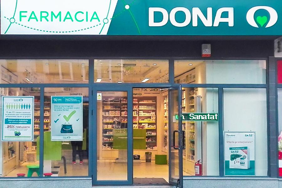 Farmaciile Dona anunta o crestere cu 5% fata de 2018 trecand  pragul de 1 mld. lei afaceri in 2019